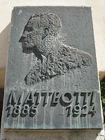 Giacomo Matteotti Gedenktafel als Bronzerelief