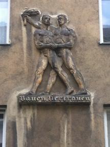 Wandskulptur 'Bauern Vertrauen'