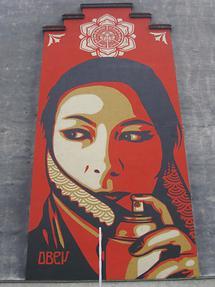 Mural 'Commanda' von Shepard Fairey 2013