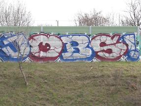 Graffito 'Jobs'