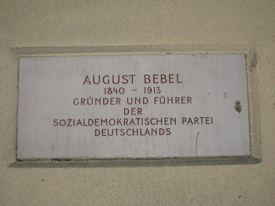 August Bebel Gedenktafel