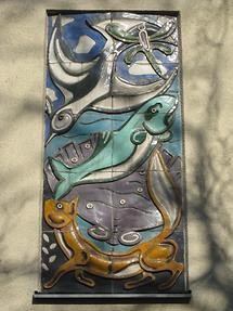 Keramikrelief 'Tierdarstellungen' von Heriberth Rath 1956
