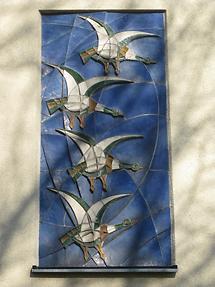 Keramikrelief 'Brandenten' von Josef Seebacher 1956