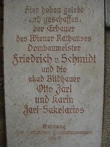 Friedrich Schmidt-, Otto Jarl- und Karin Jarl-Sakelarios