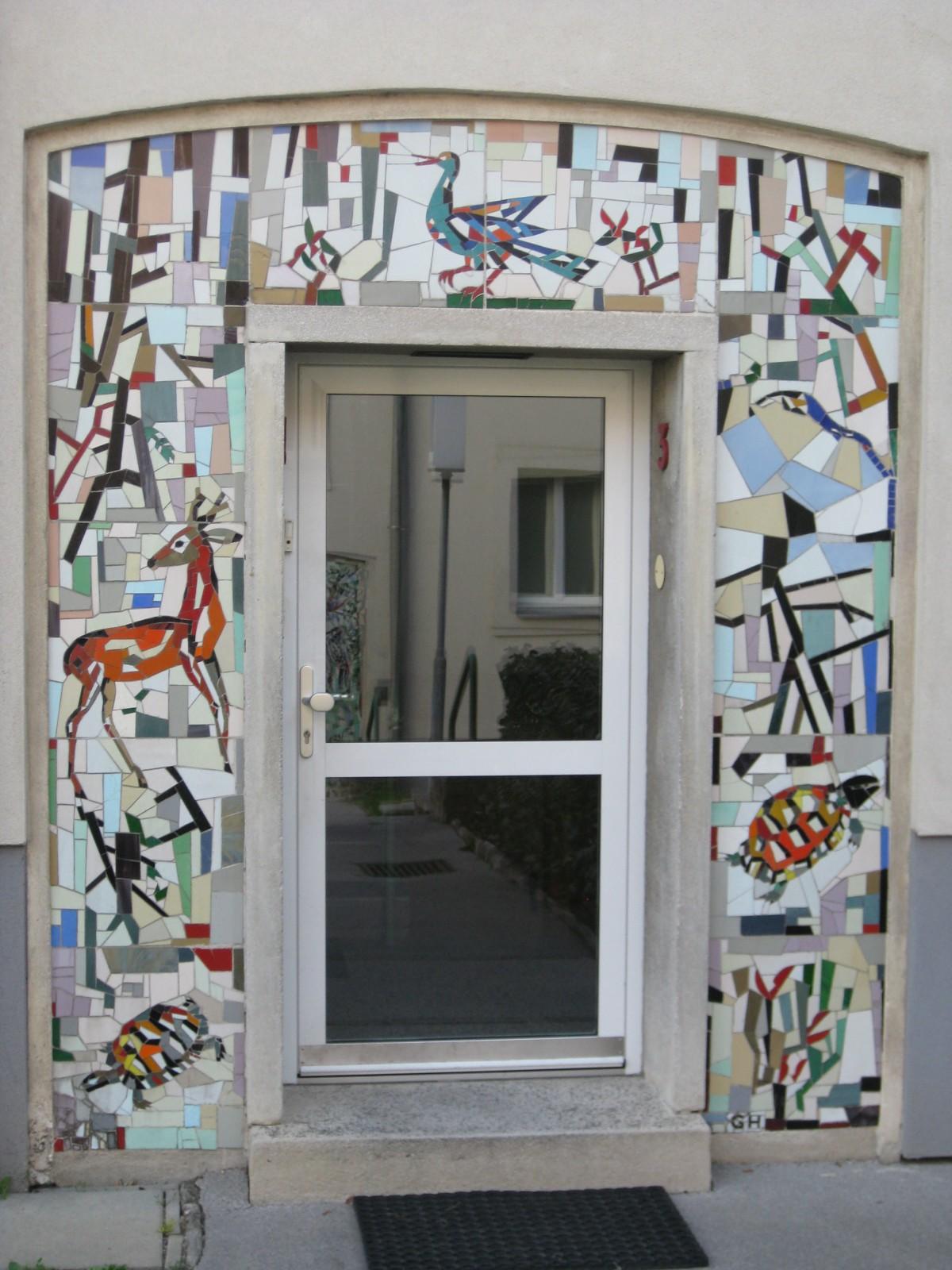 tormosaik 39 heimische tiere und pflanzen 39 von gustav hessing 1 18 bezirk bilder im austria. Black Bedroom Furniture Sets. Home Design Ideas