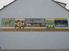 Wandmosaik 'Nussdorfer Geschichte'