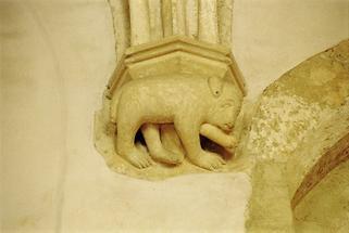 Gewölbekonsole im Kapitelsaal von Sopron (1)