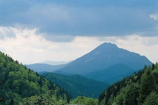 Blick auf den Ötscher im Sommer