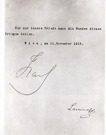 Abdankung Kaiser Karl