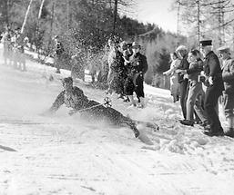 Sturz bei Skirennen