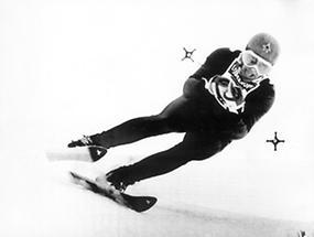 Der österreichische Skiläufer Karl Schranz (1)