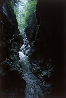 Wasserfall in den Schluchten der Lammeröfen