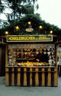 Verkaufsstand auf dem Wiener Christkindlmarkt