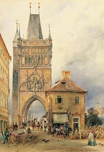 Der Turm an der Karlsbrücke