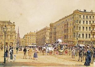 Die Kärntner Straße in Wien