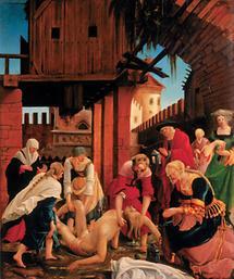 Tafel am Sebastiansaltar, Augustiner-Chorherren-Stift