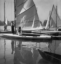 Segelboote auf der Alten Donau