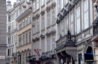 Häuserfassaden der Wiener Altstadt