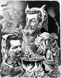 Karikatur Georg von Schönerer