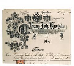 Rechnungskopf von Franz Joh. Kwizda Wien