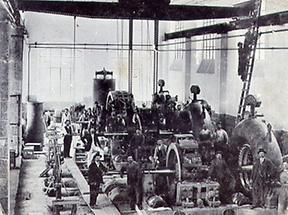 Werkstätte mit Arbeiter