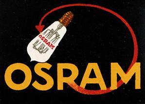 Werbemarke für die Osram-Metallfaden-Glühlampe