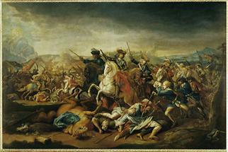 Prinz Eugen von Savoyen in der Schlacht von Belgrad 1717