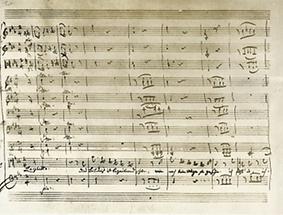 Notenniederschrift zur Bildnis-Arie
