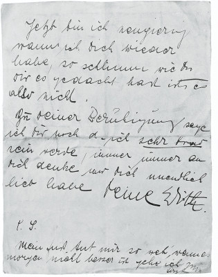 Brief Edith Schieles an Egon Schiele, © IMAGNO/Austrian Archives