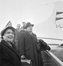 Karl Böhm mit seiner Frau