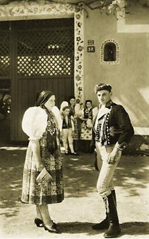 Tschechisches Paar aus Chodau, Böhmen