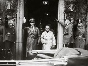 Reichsminister Wilhelm Frick und Gauleiter Josef Bürckel