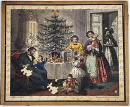 Puzzle mit Weihnachtsmotiv