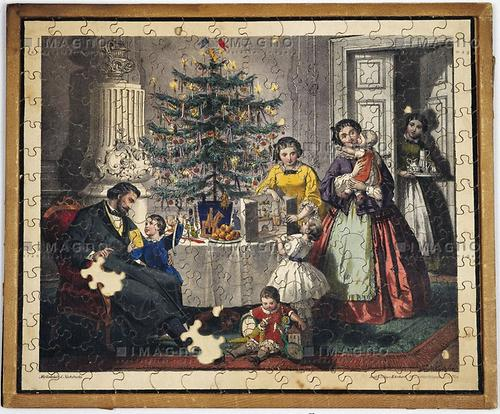 Puzzle mit weihnachtsmotiv b rgertum bilder und texte for Wohnzimmer 19 jahrhundert