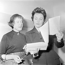 Ingeborg Bachmann und Hilde Krahl (1)