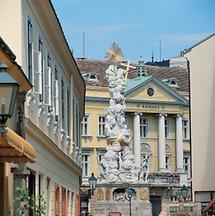 Das Rathaus in Baden bei Wien