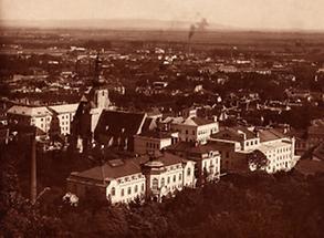Stadtansicht von Baden bei Wien