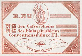 Quittung der Ersten Österreichischen Spar-Casse