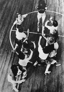 Schnappschuss bei einem Baskettballspiel