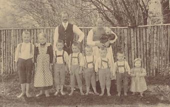 Österreichische Bauernfamilie