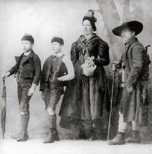 Steirische Bauernfamilie