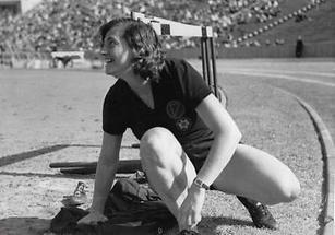 Die österreichische Speerwerferin Herma Bauma