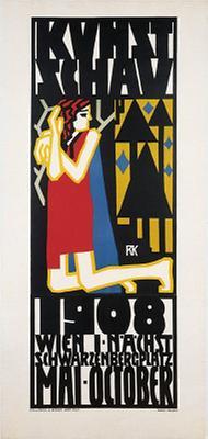 Plakat für die Wiener Kunstschau 1908