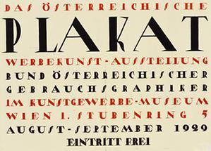 Plakat für die Ausstellung: Das österreichische Plakat