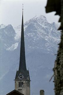 Der Turm der Bischofshofener Liebfrauenkirche