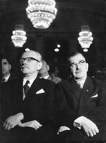Fritz Bock und Leopold Figl