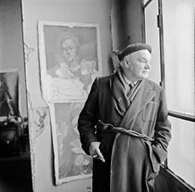 Herbert Boeckl in seinem Atelier (3)