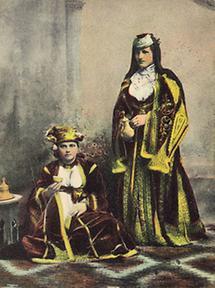 Sephardische Jüdin in Festtracht aus Sarajevo