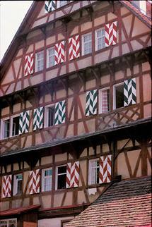 Bürgerhausfassade in Bregenz, Vorarlberg
