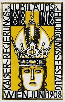 Werbemarke von Bertold Löffler für den Kaiser-Hulg